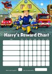 Personalised Fireman Sam Reward Chart (adding photo option available)